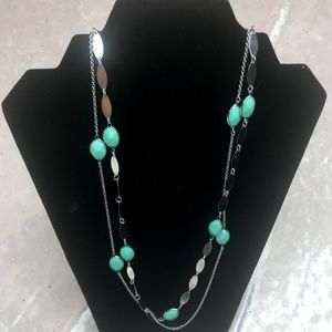 💎💰 Charming Charlie Seafoam Necklace Earring Set